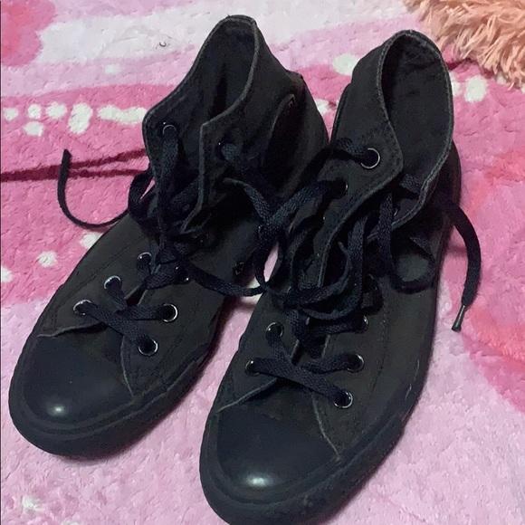 Converse Shoes - All black high top converse